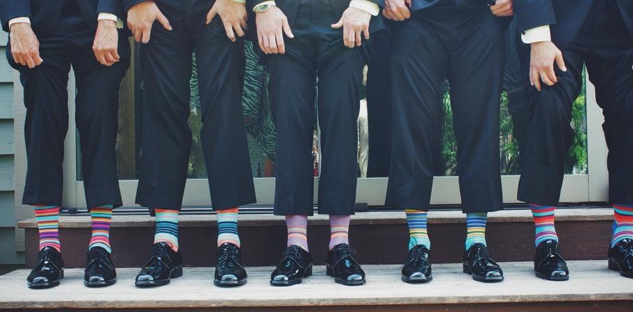 men showing socks